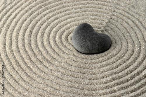 Stein in Herzform