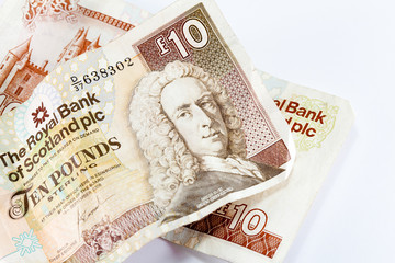 Two scottish ten pound notes