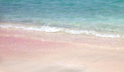 Pink sand in Elaphonisi (Crete)