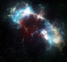 externe nébuleuse nuage de l'espace et les étoiles