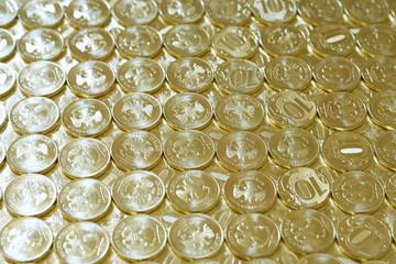 russian metallic coins nominal value ten roubles