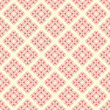 Antique Red and Creme Damask Seamless Pattern