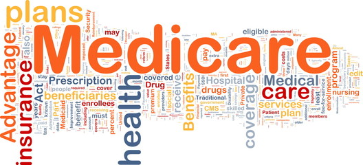 Medicare background concept