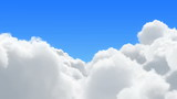 Flight over the sunny clouds - loopable
