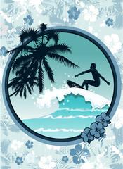 Floral surfer