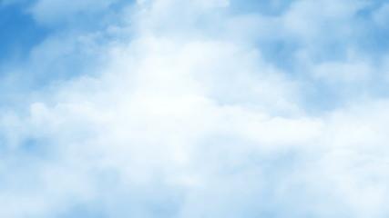 Loopable flight through sky - cg animation