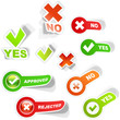 Yes and No icon set.