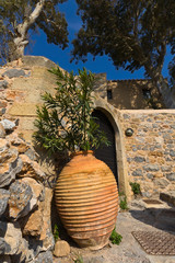Traditional Greek house at Monemvasia in Greece