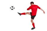 Fotbalista vystřihnout na bílém