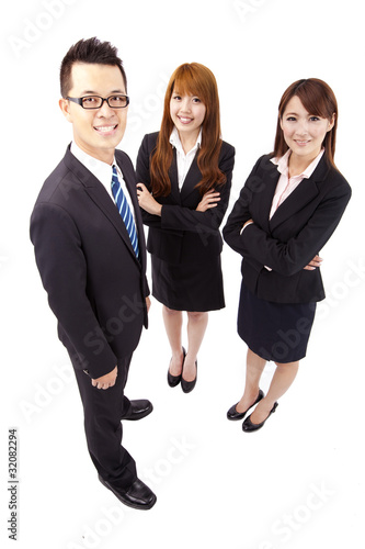 Young asian business team