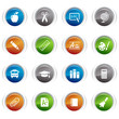 Glossy Buttons - School Icons