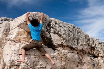 Climbing on top