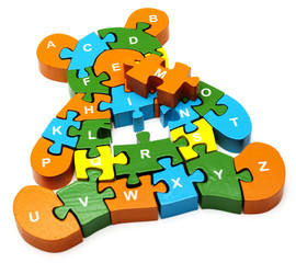 wooden puzzle  bear