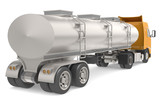 Tanker truck isolated on white. Part of Warehouse series.