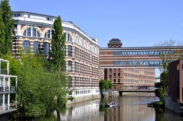 Leipzig Plagwitz Buntgarnwerke am Elsterkanal