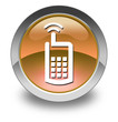 "Orange Glossy Pictogram ""Cell Phone"""