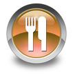 """Orange Glossy Pictogram """"Eatery / Restaurant"""""""