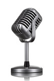 Fototapety Retro microphone isolated on white