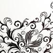 Retro floral background for vintage design.