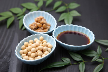japanese typical soybean processed food