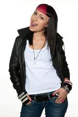 teen girl with attitude