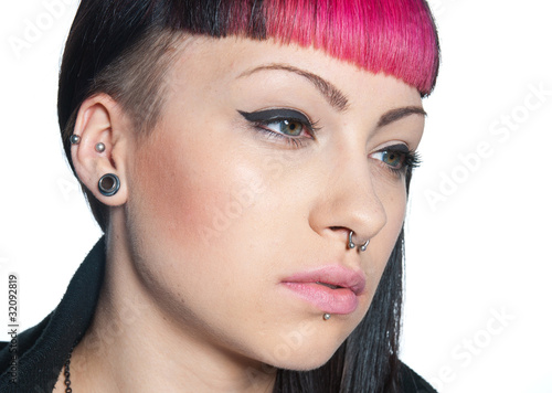 teen girl piercing