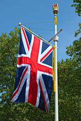 Union Jack flag, The Mall,  London, England, UK