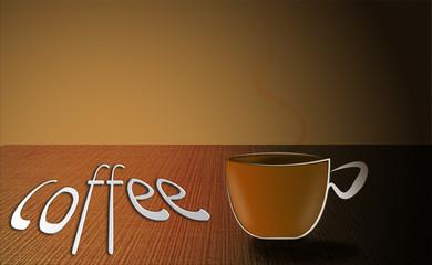 Caffè con scritta