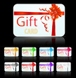 set of gift card with luxury ribbon
