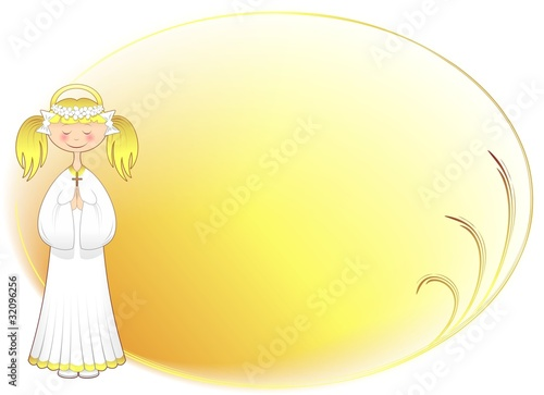 Bambina Prima Comunione Auguri-Girl First Communion Background-2