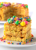 Peruvian colorful cake called Turron