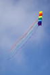 Colourful kite in sky
