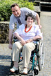 Leinwanddruck Bild senior woman in wheelchair