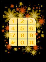 tastierino numerico decorato