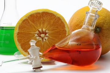 chemie mit orange