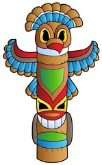 Tall Indian totem