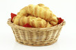 Butter shortbread bisquits in a basket