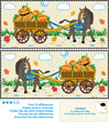 Find ten differences visual puzzle - Halloween, autumn, harvest