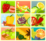 Picture of a various food - collage A