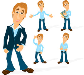 Set of a various poses of a man B