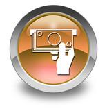 Orange Glossy Pictogram