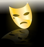 golden mask of tragedy