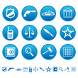Law and order icons