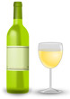 Weißwein mit Weinglas