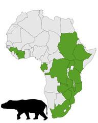 Flusspferd Afrika Verbreitung