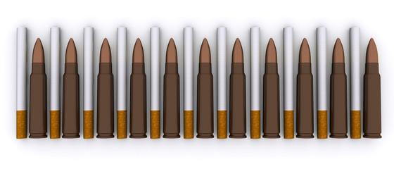 Cigarettes kill the same bullets