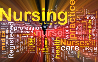 Nursing background concept glowing