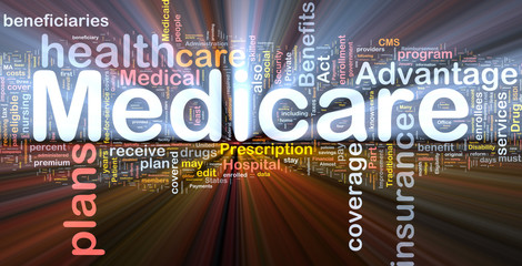 Medicare background concept glowing