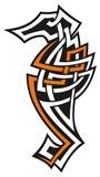Seahorse tribal icon poster