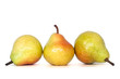 whole pears with clipping path